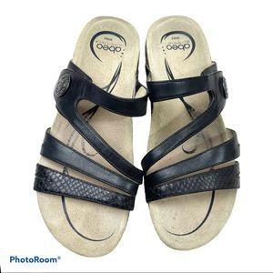 Abeo womens Bains sandals sz 8